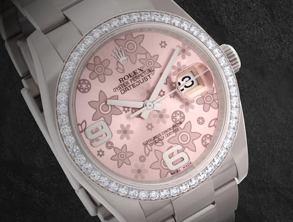 Rolex Datejust ref. 116244 with Pink Floral Dial