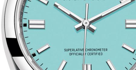 Rolex Oyster Perpetual 2020 mặt số Turquoise - Có phải là mặt số Tiffany & Co không?
