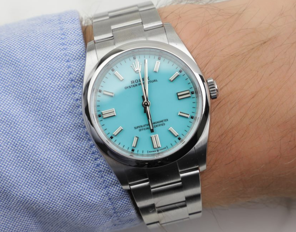 Rolex Oyster Perpetual 2020 mặt số Tiffany