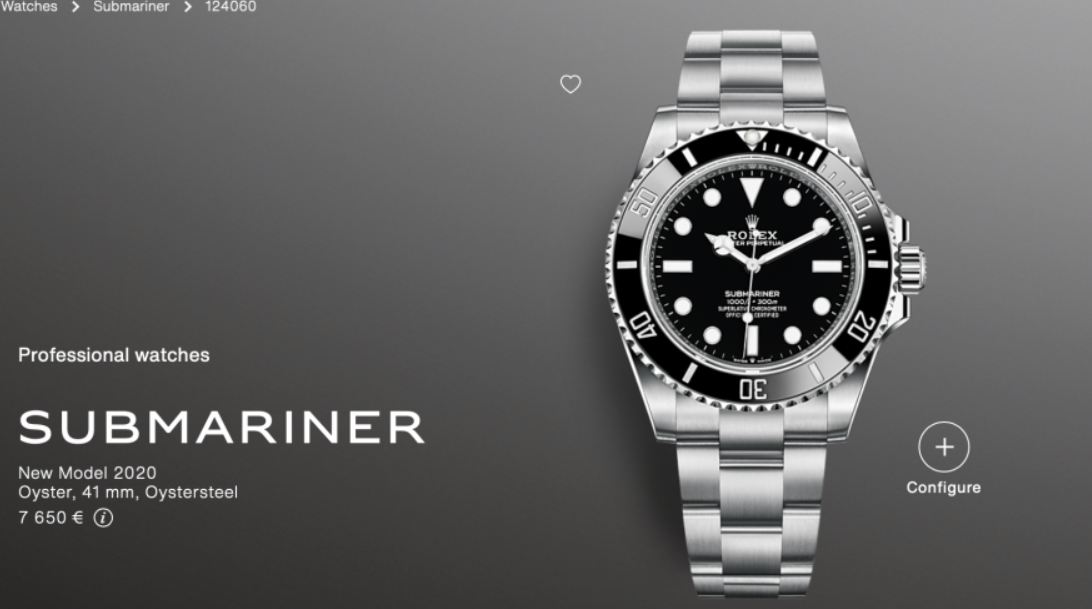 Rolex Submariner No-Date 124060