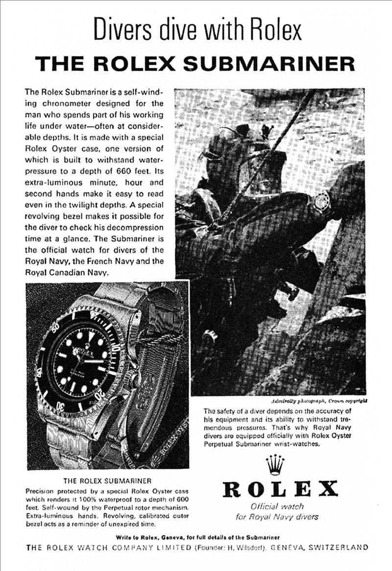 Lịch sử đồng hồ Rolex Submariner