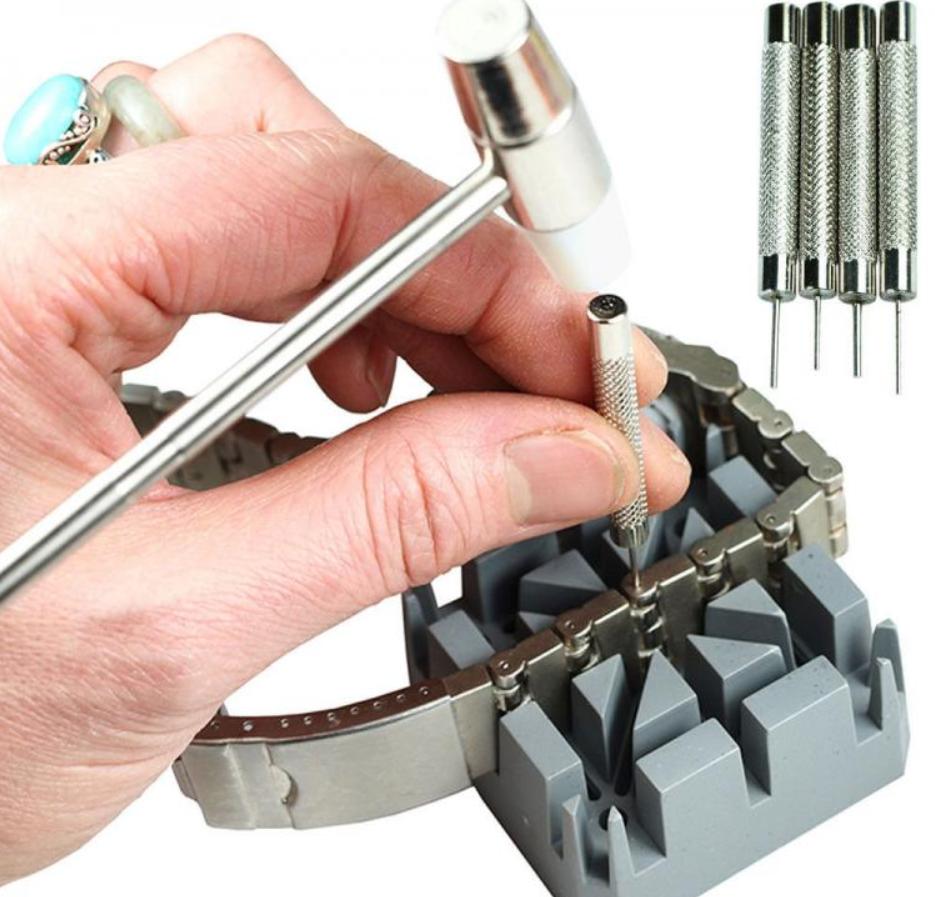Cách tháo mắt dây đồng hồ bằng dụng cụ