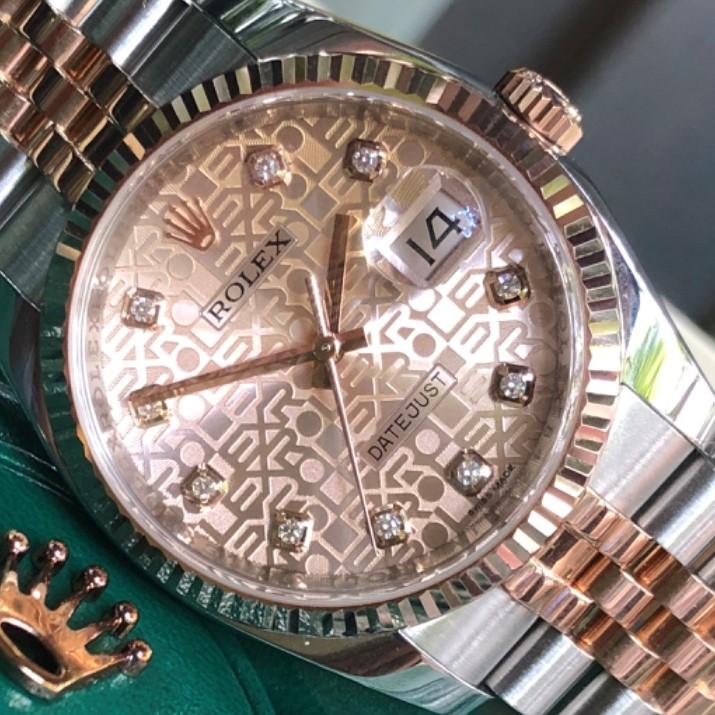 Rolex Datejust 116231 mặt vi tính Demi vàng 18k Fullbox 2013