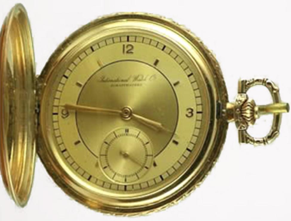 Đồng hồ bỏ túi IWC Hunter với bộ máy Calibre 74