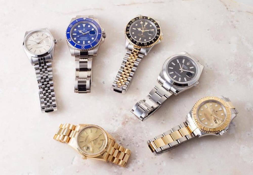 Một loạt các size đồng hồ Rolex