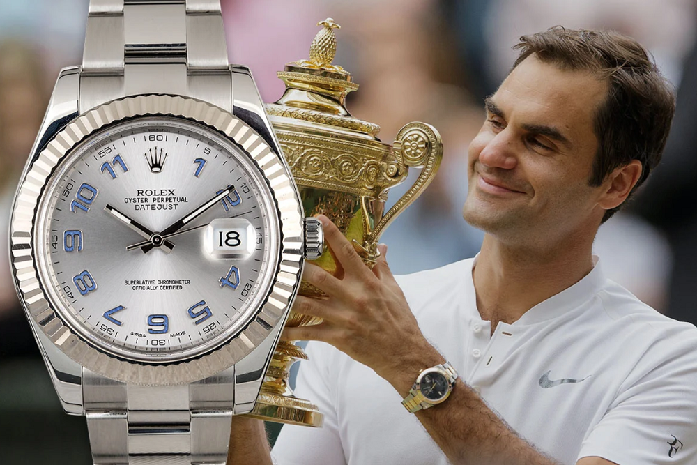 Đại sứ Roger Federer với Rolex Datejust