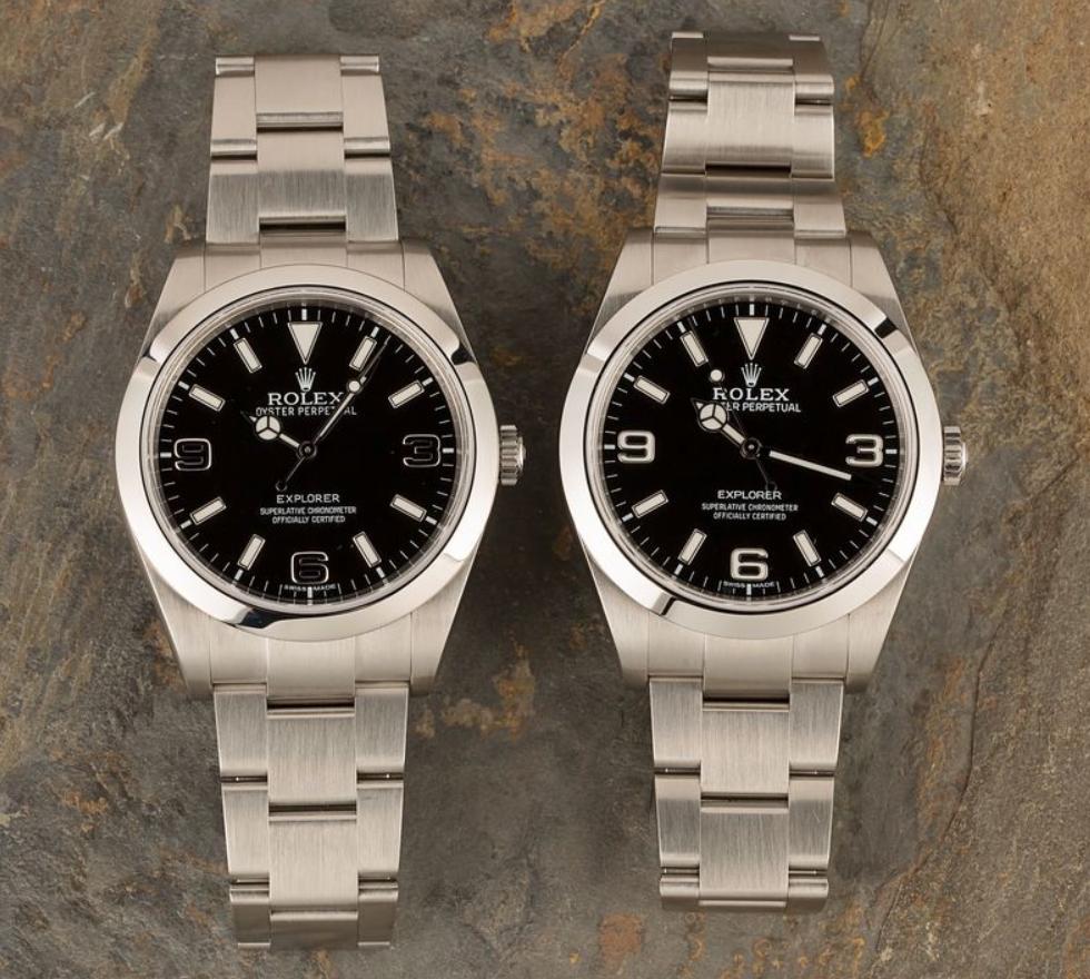 Đồng hồ Rolex Explorer 214270 mặt số MK1 và MK2