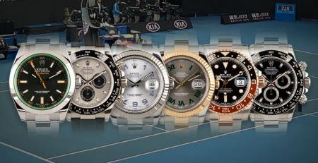 Đồng hồ Rolex được đeo bởi các Đại sứ quần vợt nổi tiếng