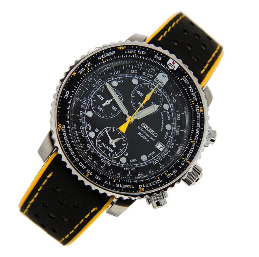 Seiko SNA411 Flightmaster - Đồng hồ Seiko Chronograph phi công tốt nhất