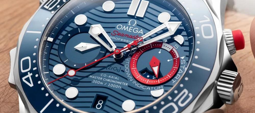Đồng hồ Omega Seamaster Diver 300M Chronograph phiên bản America's Cup