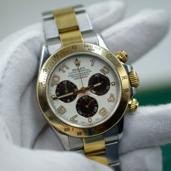 Đồng hồ Rolex Daytona Mặt số Panda Chronograph Demi vàng 18k Size 40mm
