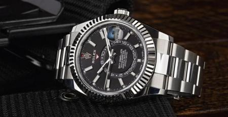 Cài đặt đồng hồ Rolex Sky-Dweller bằng Ring Command Bezel