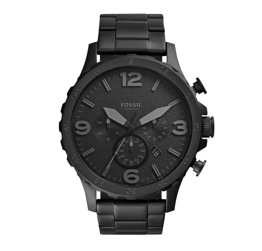 Đồng hồ Fossil Nate Stainless Steel Chronograph Quartz