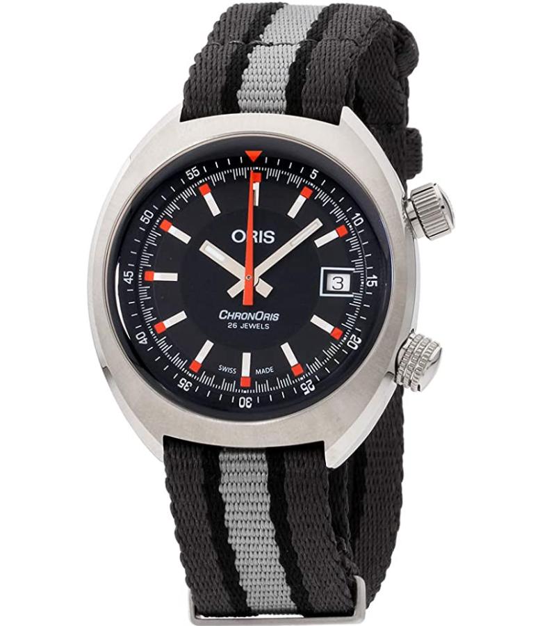 Đồng hồ Oris Chronoris Date Black Dial Canvas Strap
