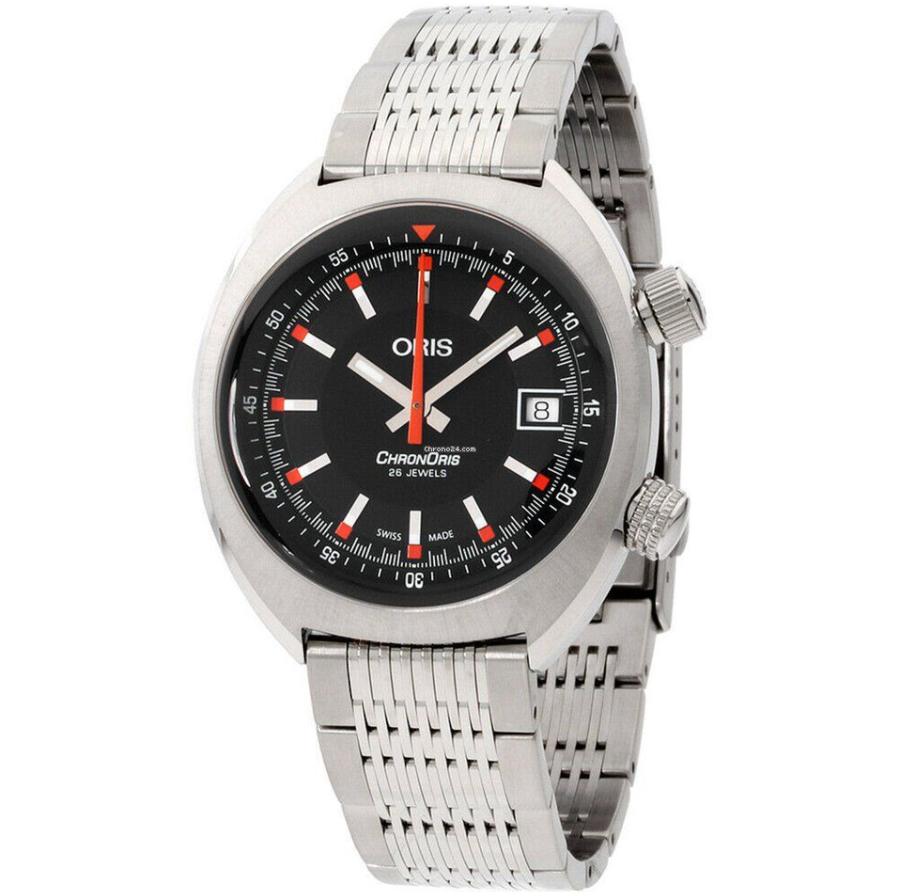 Đồng hồ Oris Chronoris Date Black Dial Stainless Steel