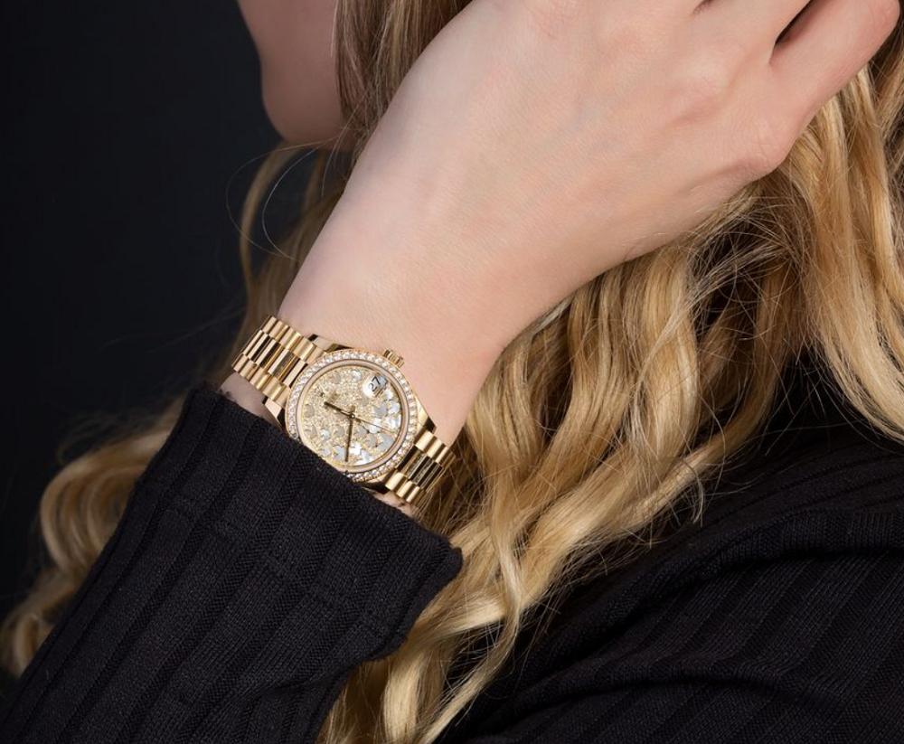 Những bộ phận nào của đồng hồ Rolex có đính kim cương?