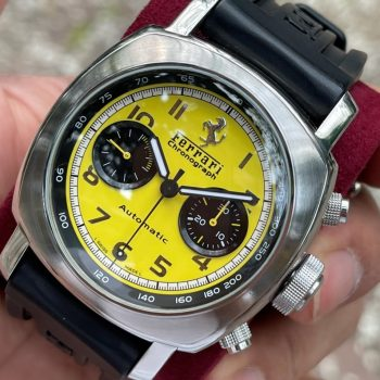 Panerai Limited Edition Ferrari FER00011 Mặt vàng Chronograph Size 45mm