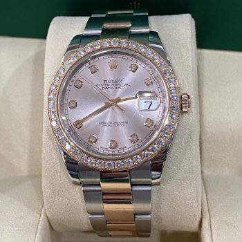 Đồng hồ Rolex Datejust II 116331 Rolesor Everose Gold Bezel Diamonds