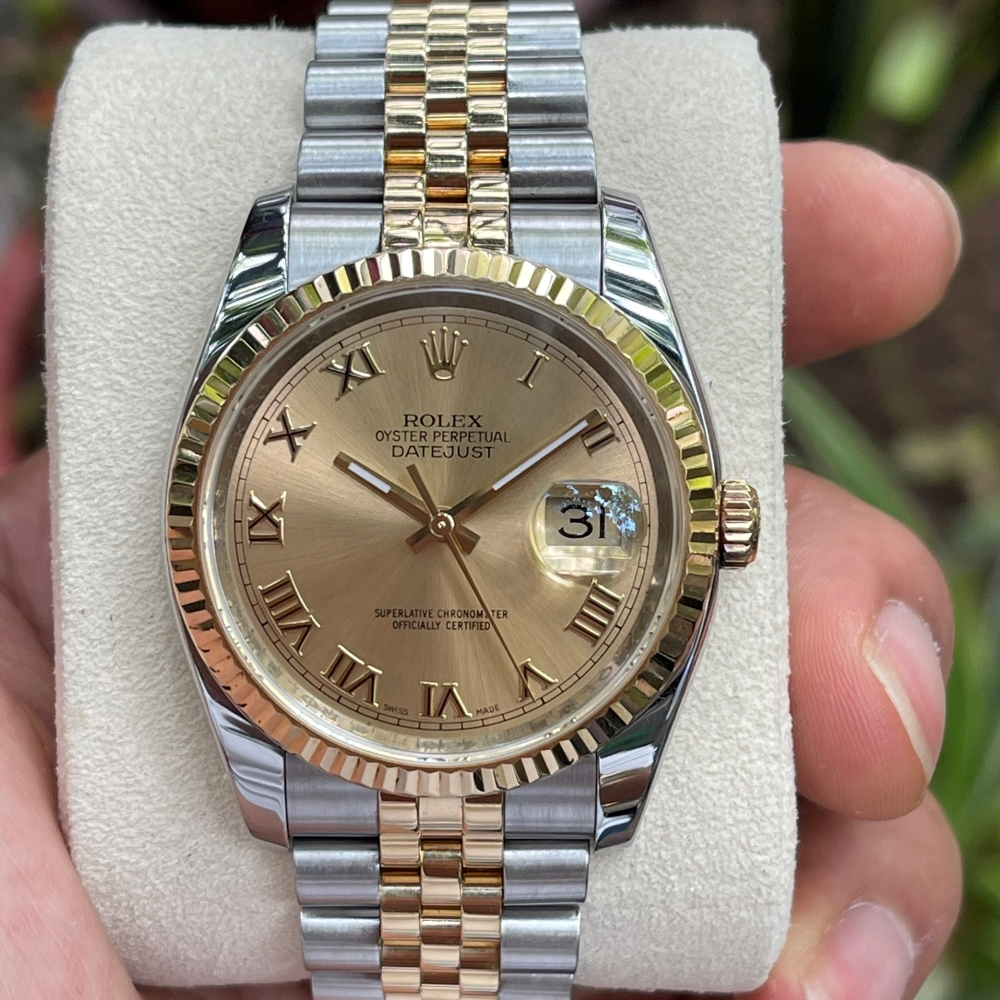 Dong-ho-Rolex-Datejust-116233-Champagne-Dial-Demi-vang-18k-size-36mm-1