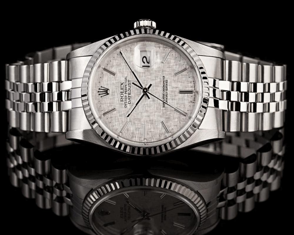 Đồng hồ Rolex Datejust 16014 Mặt số Linen