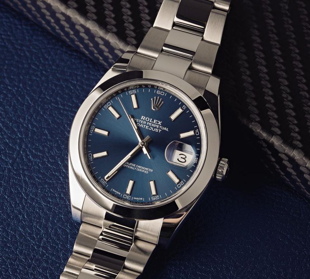 Đồng hồ Rolex Datejust 41 tham chiếu 126300 mặt số Blue
