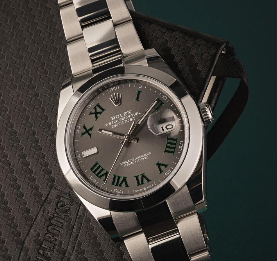 Đồng hồ Rolex Datejust 41 tham chiếu 126300 mặt số Wimbledon