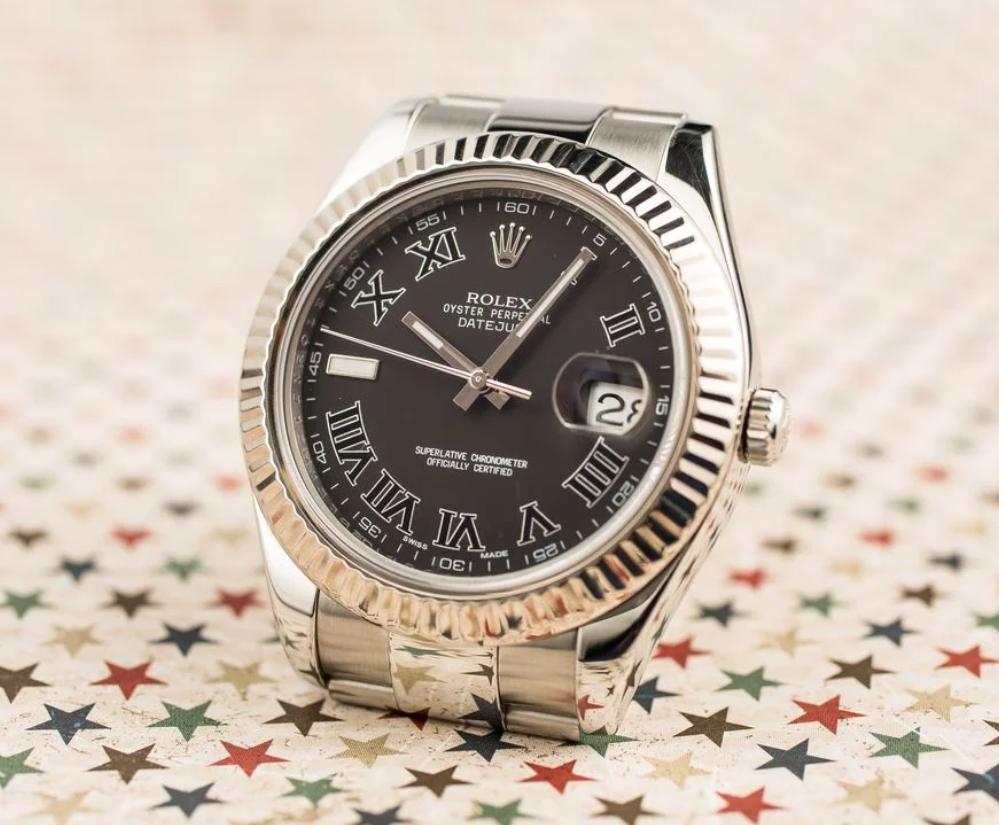 Đồng hồ Rolex Datejust II 116334 - Mặt đen cọc số La Mã