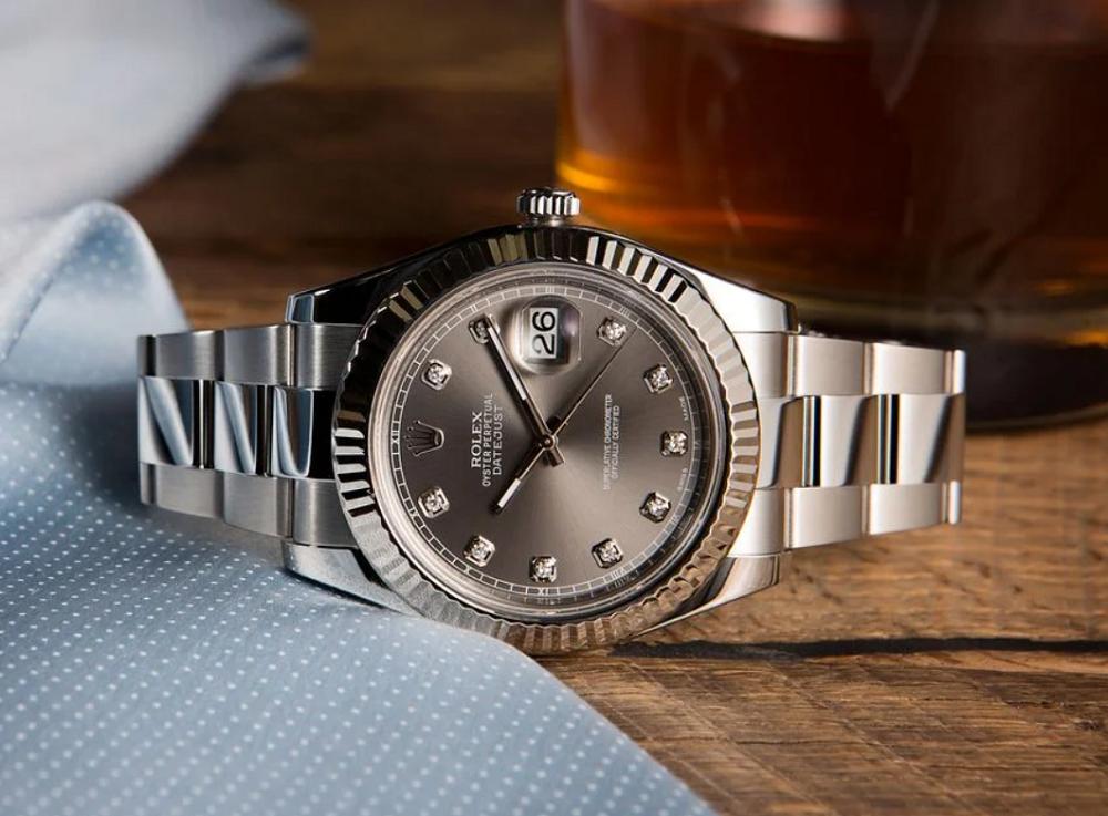 Đồng hồ Rolex Datejust II 116334 - Mặt số kim cương