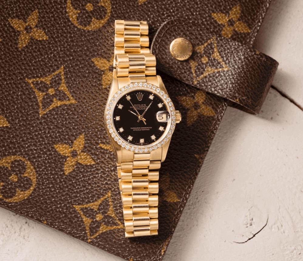 Đồng hồ Rolex Lady President Diamond Bezel