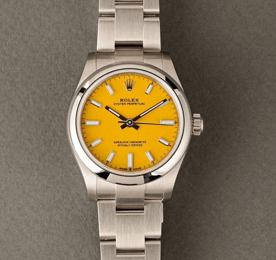 Đồng hồ Rolex Oyster Perpetual - Yellow Dial