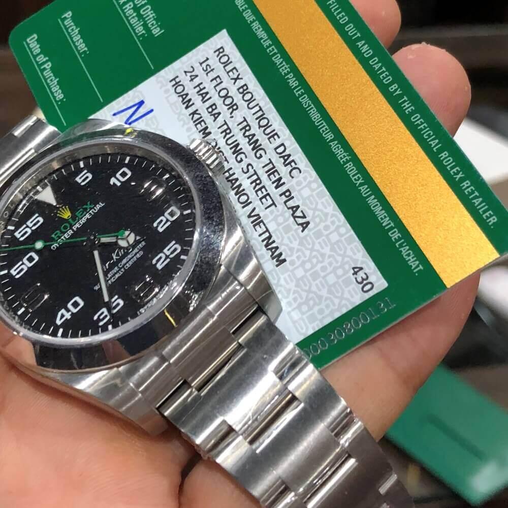 Đồng hồ Rolex Air-King 116900 Mặt đen Oystersteel New Fullbox 2020