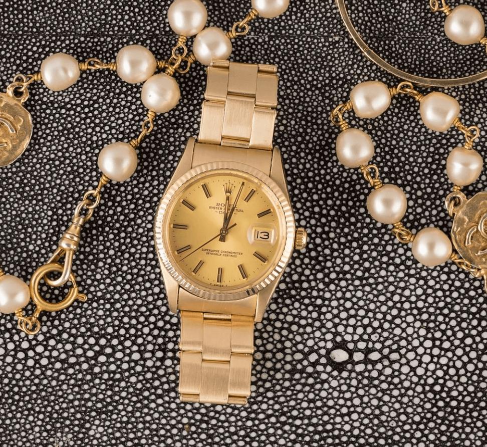 Đồng hồ Vintage Rolex Date - Yellow Gold