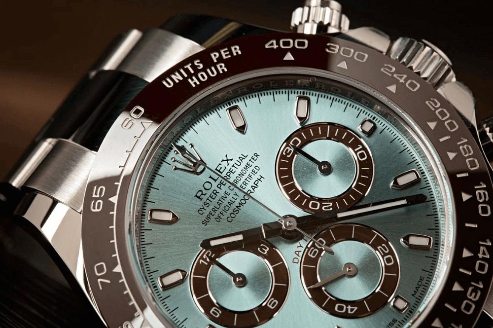 Mặt số xanh băng đồng hồ Rolex Daytona 116506