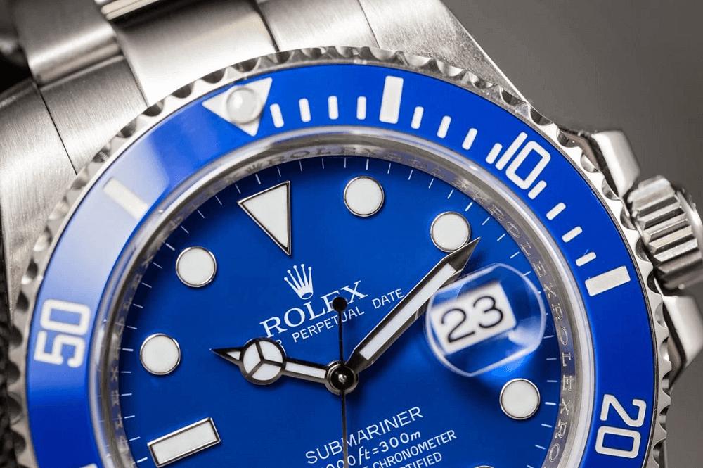"""Mặt số Đồng hồ Rolex Submariner Ref. 116619LB - """"Smurf"""""""