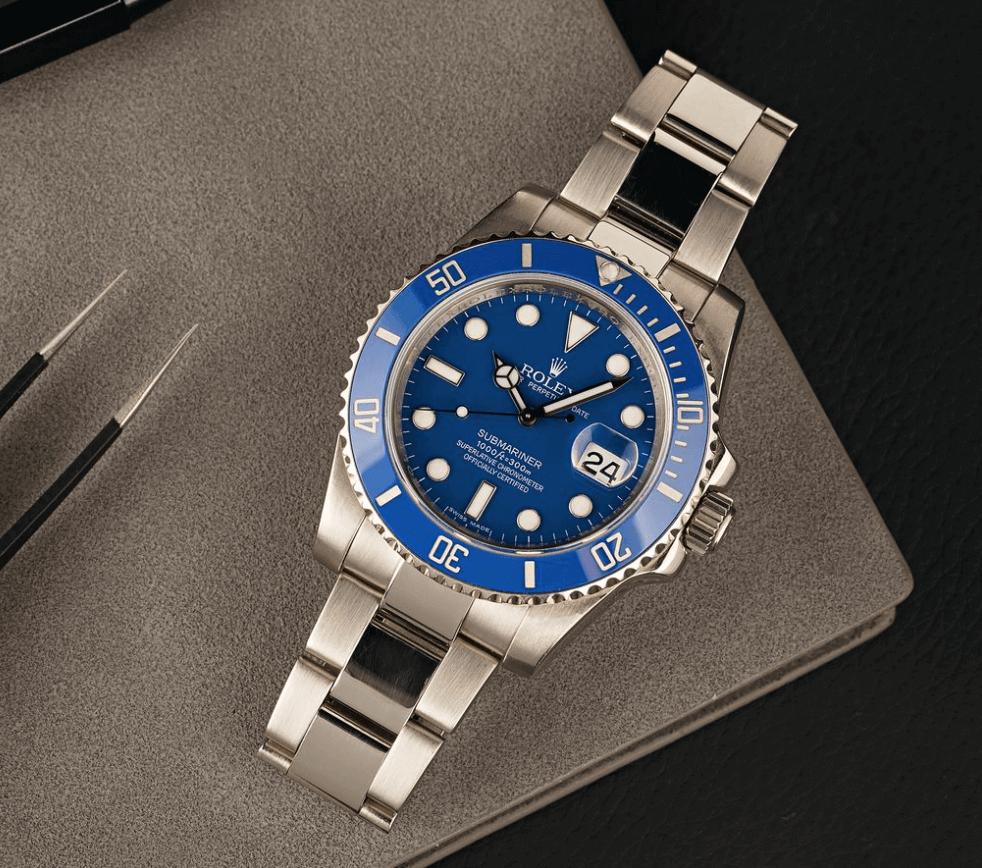 """Đồng hồ Rolex Submariner 116619LB - """"Smurf"""""""