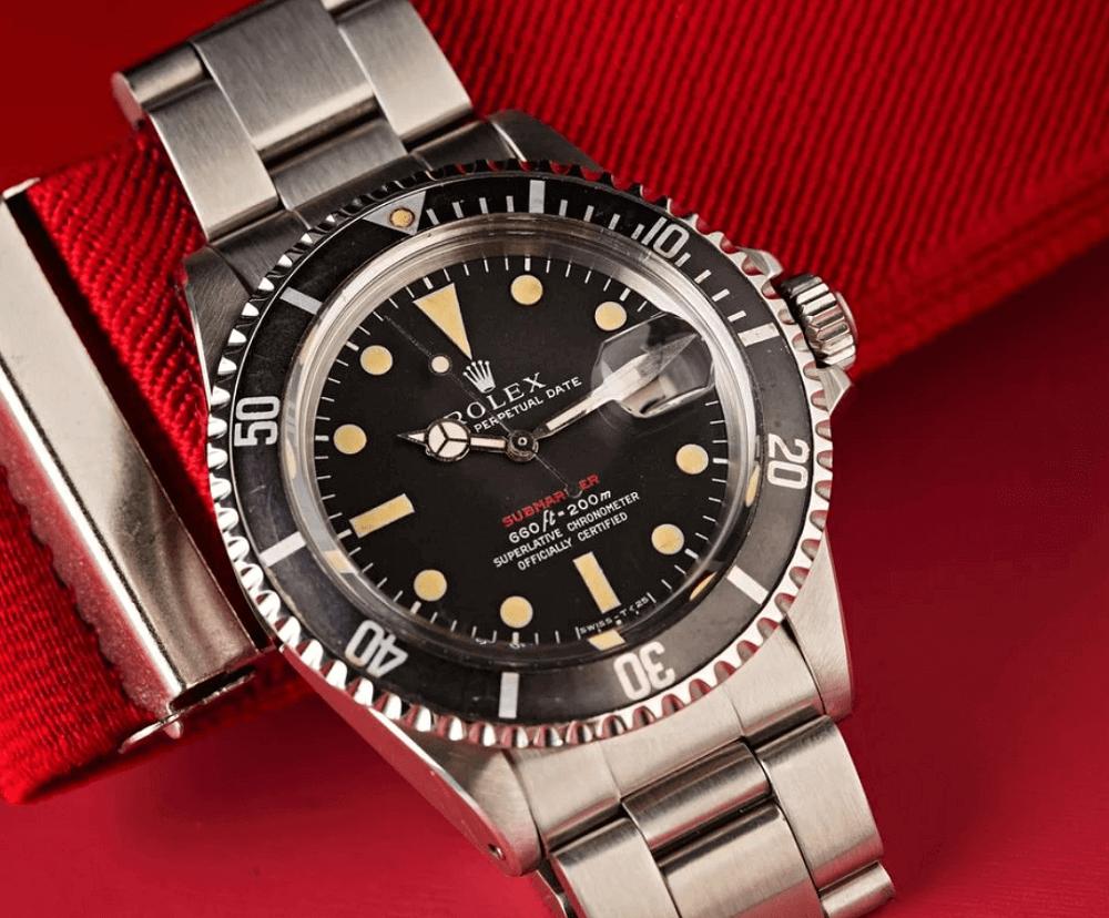 "Đồng hồ Rolex Submariner Date ref. 1680 - ""Red Sub"""