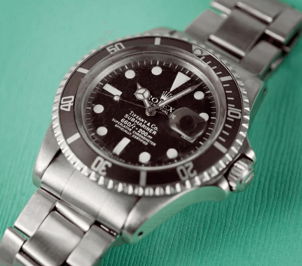 Đồng hồ Rolex Submariner 1680 - Mặt số Tiffany