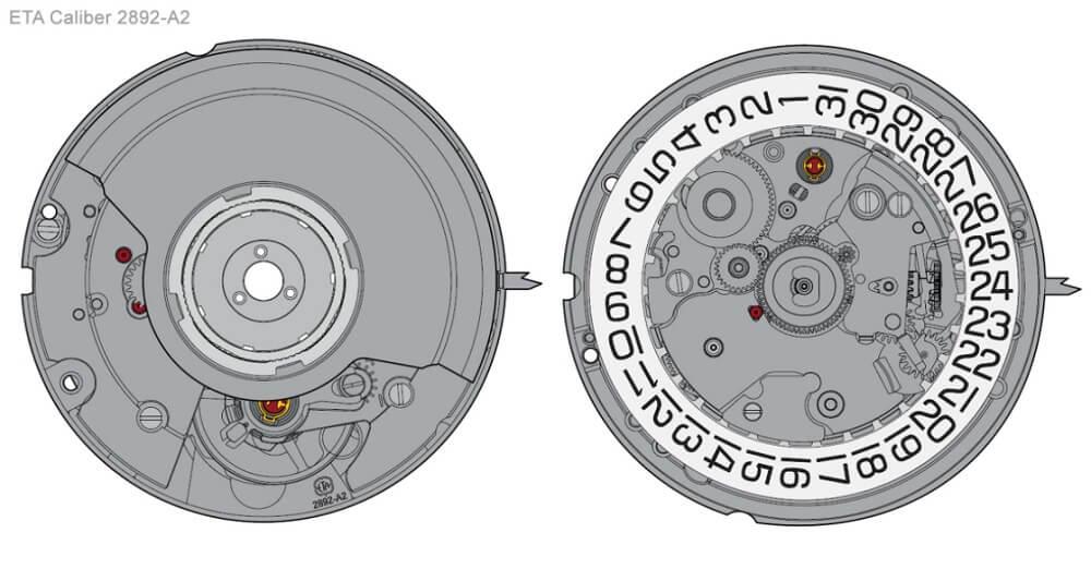 Bộ máy ETA Calibre 2892-A2