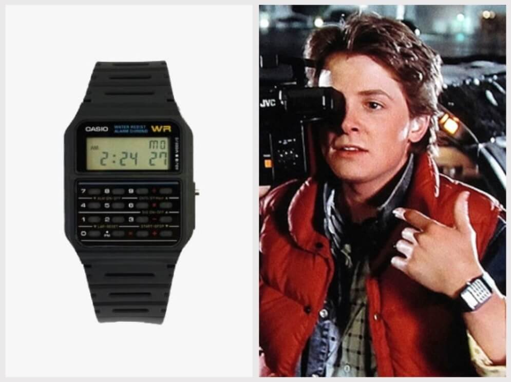 Đồng hồ Casio CA53W Twincept Databank - Back to the Future