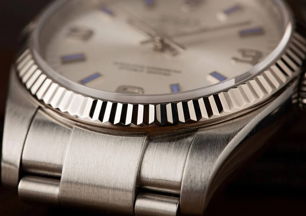 Đồng hồ Rolex Air-King 114234 - Bezel vàng trắng 18k
