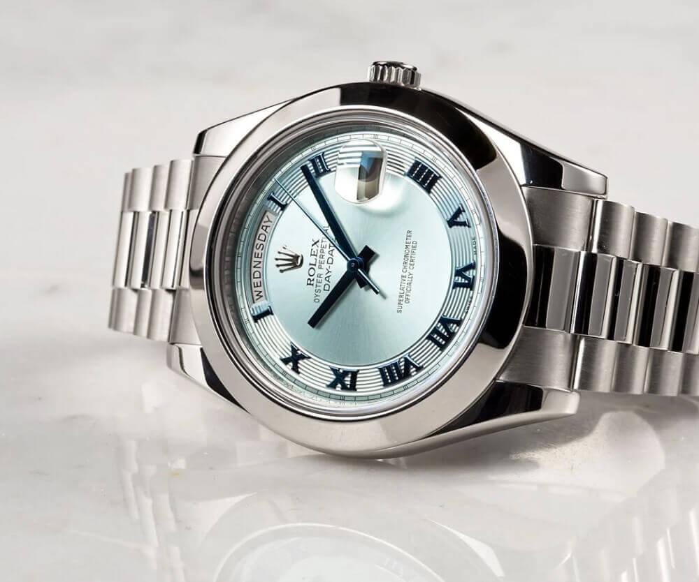 Đánh giá đồng hồ Rolex Platinum Day-Date II Ref. 218206