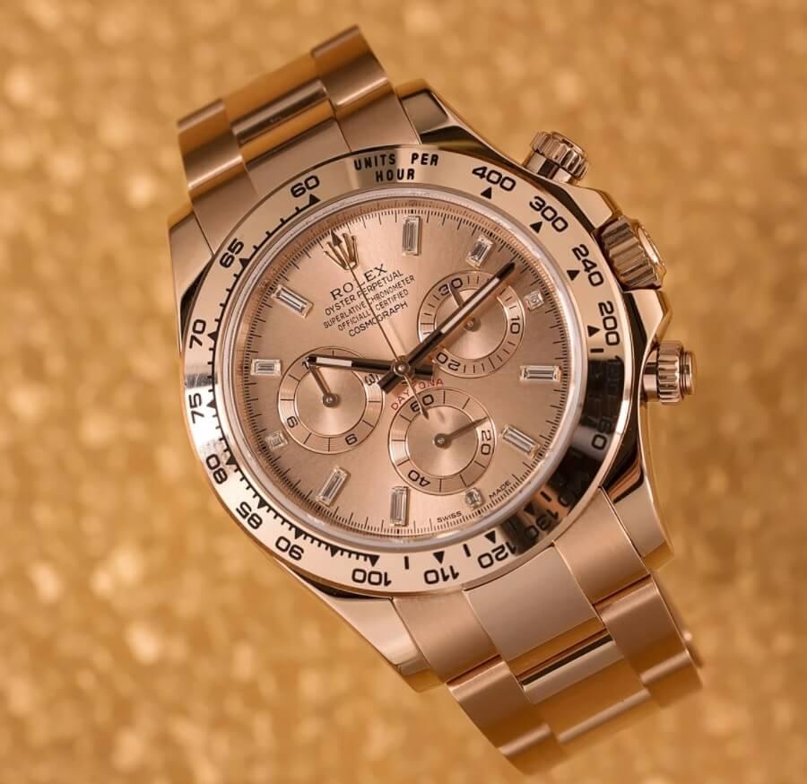 Đồng hồ Rolex Daytona 116505 vàng Everose và Kim Cương