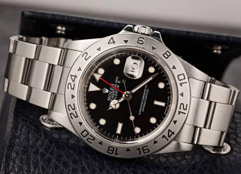 Đồng hồ Rolex Explorer II Ref. 16570 - Black Dial