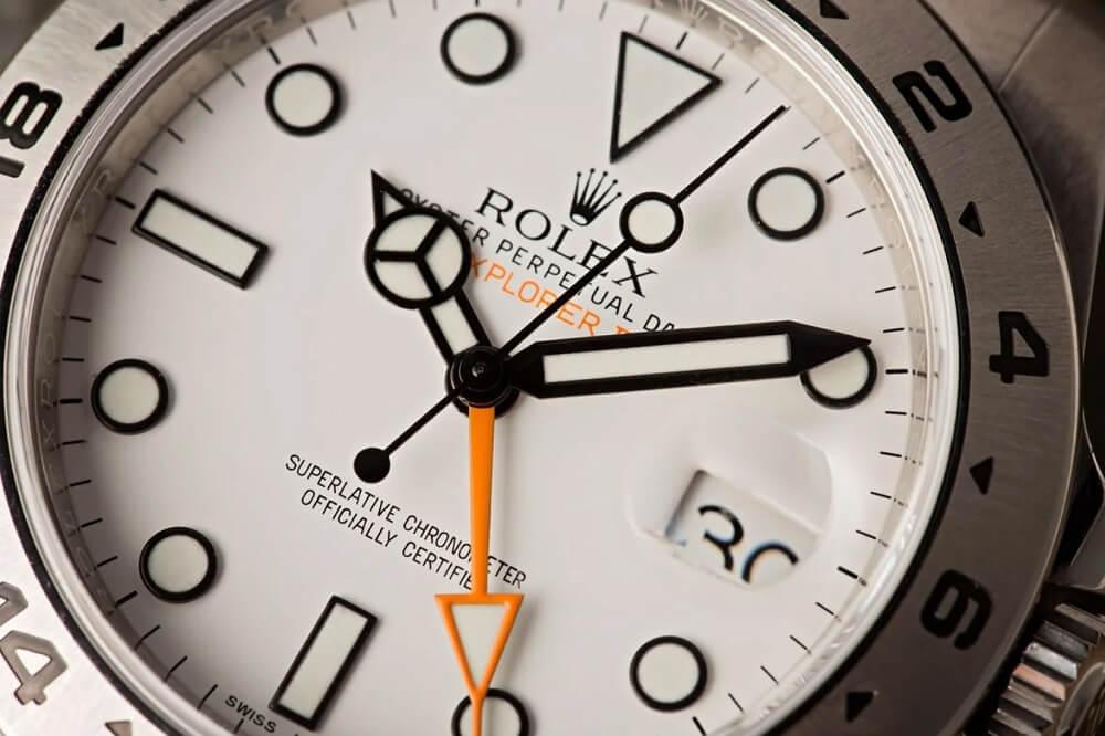 Đồng hồ Rolex Explorer II Ref. 216570 - Mặt số Polar