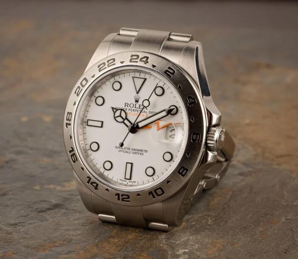 """Đồng hồ Rolex Explorer II Ref. 216570 - Mặt số trắng """"Polar"""""""
