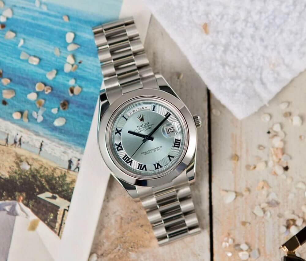 Đồng hồ Rolex Platinum Day-Date II Ref. 218206