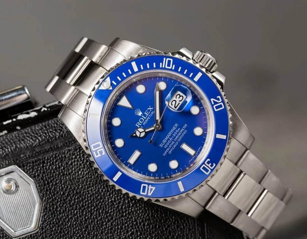 Đồng hồ Rolex Submariner ref. 116619 Smurf