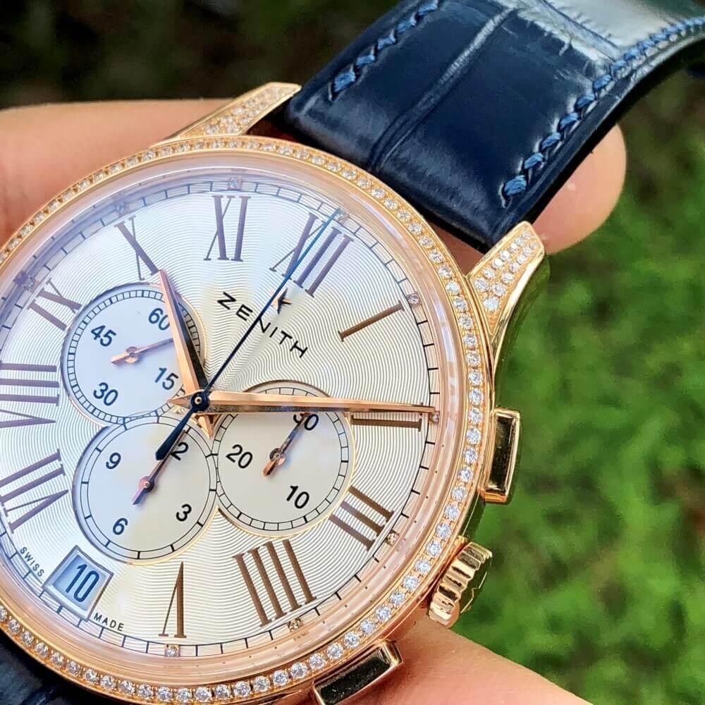 Đồng hồ Zenith El Primero Captain Chronograph Rose Gold 22.2114.400/34.C510
