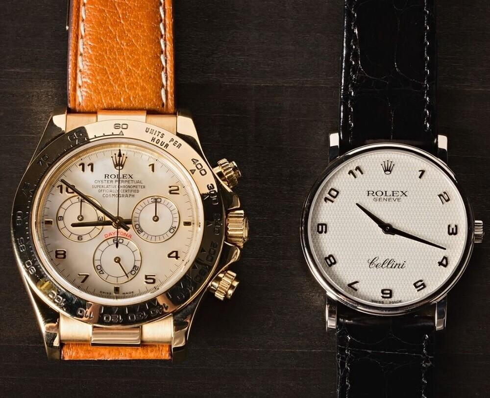 Giá trị giữa đồng hồ Rolex Daytona với Rolex Cellini