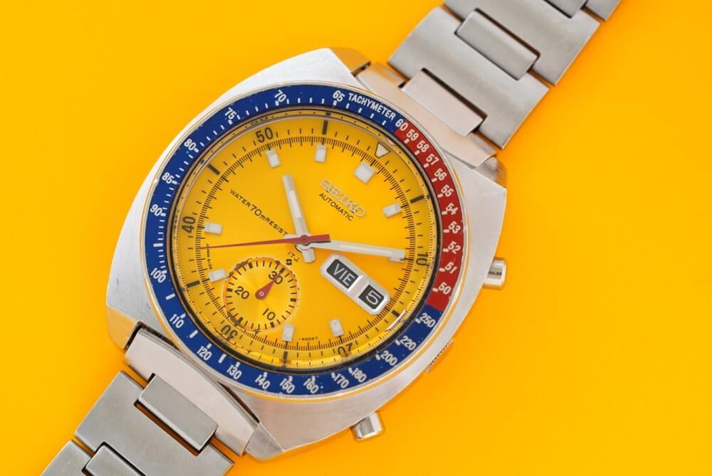 Đánh giá đồng hồ Seiko Pogue 6139-6005 Chronograph Automatic đầu tiên đi vào không gian